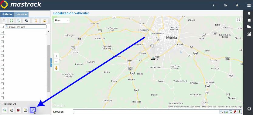 Seleccionar el botón: Configuración de localización