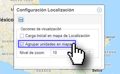 Agrupar unidades en mapa